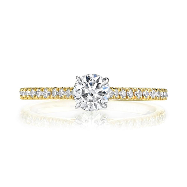 Emerson Fine Jewelry Mia Round Pavé Signature Collection Engagement Ring