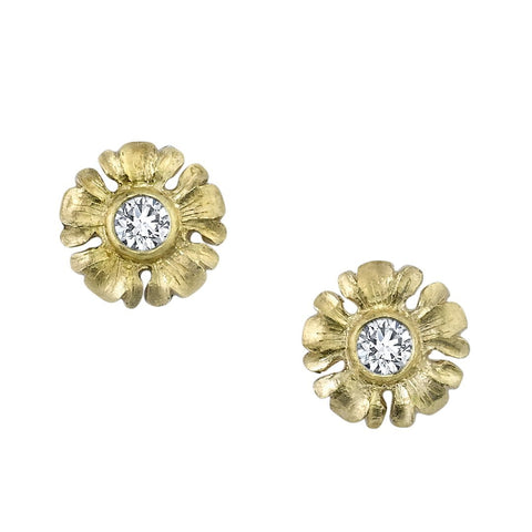 Van Craeynest 'D62' Floral Stud Earrings Earrings