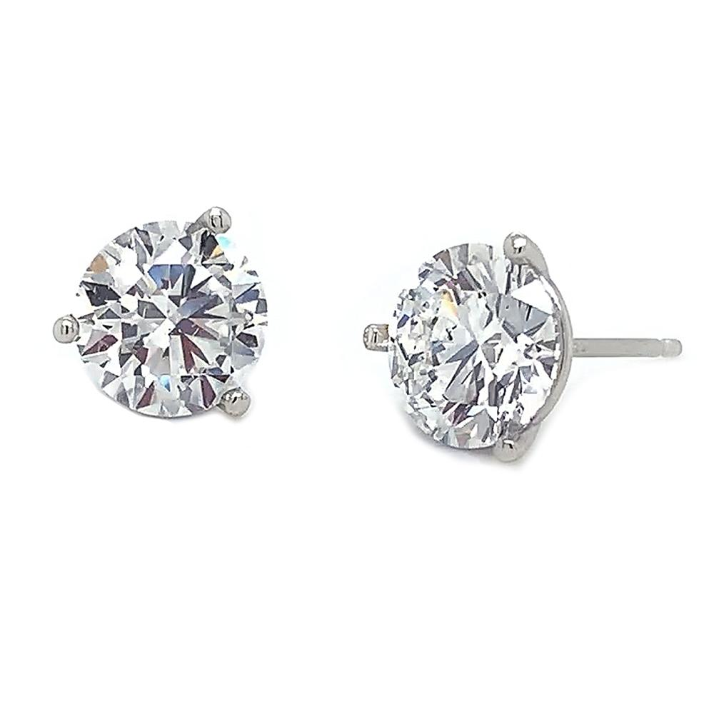 Emerson & Farrar - Diamond Martini Stud Earrings 1ct., Earrings