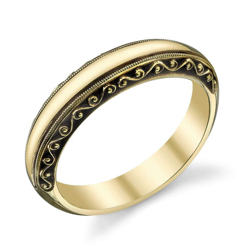 Hand-Chased Gents Swirl Band