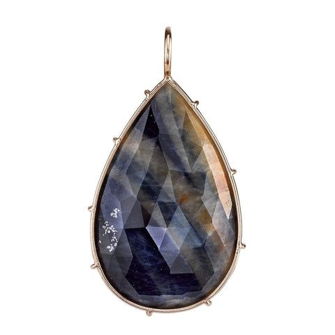 Heather B. Moore - Striped Sapphire Harriet Stone, Charm