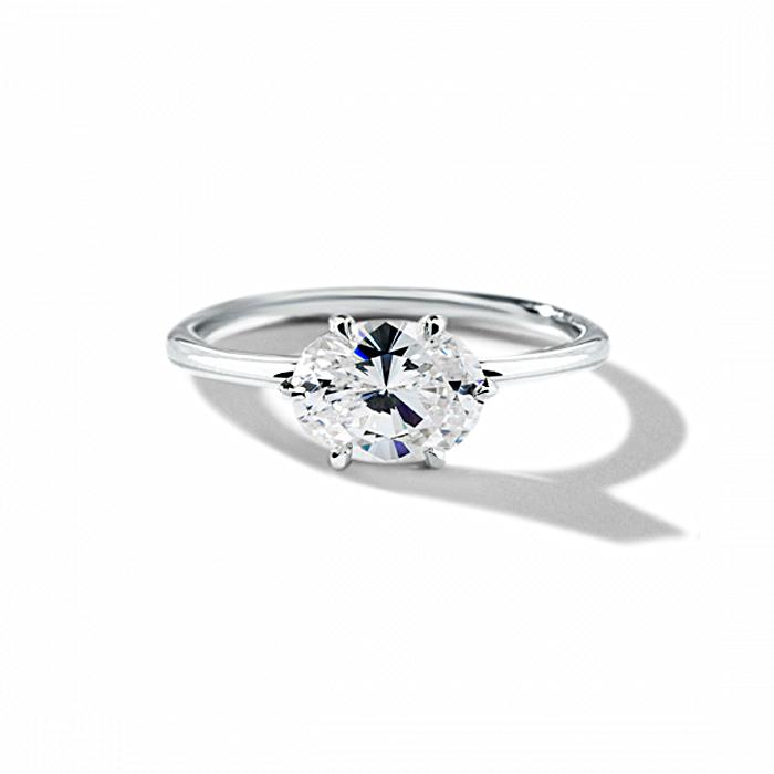 ILA Oona Engagement Ring Semi Mount 3 / White Gold
