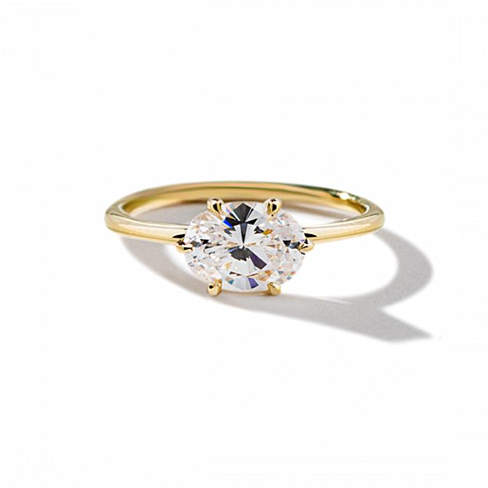 ILA Oona Engagement Ring Semi Mount 3 / Yellow Gold