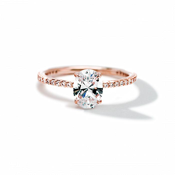 ILA - Oval Pave Engagement Ring, Semi Mount