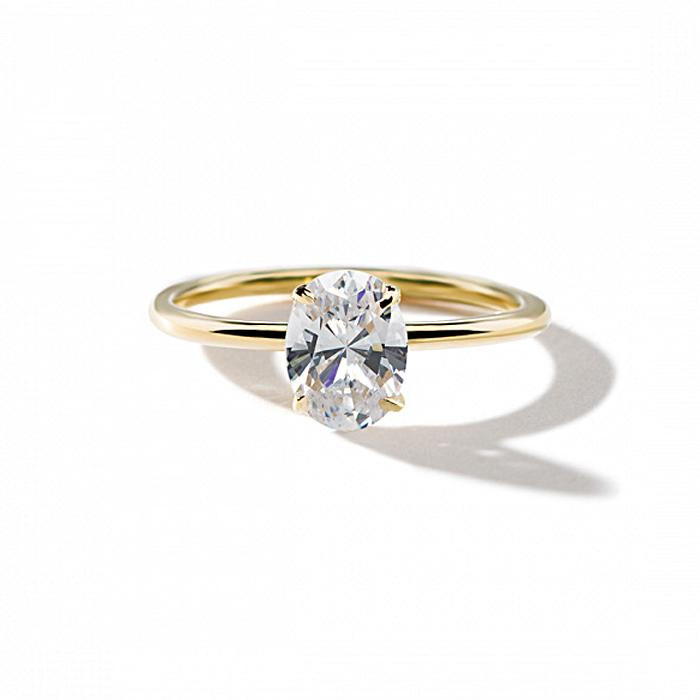 ILA Oval Diamond Engagement Ring Semi Mount 3 / Yellow Gold