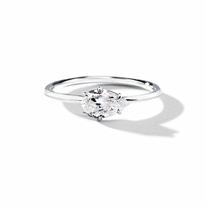 ILA Aleta Engagement Ring Semi Mount 3 / White Gold