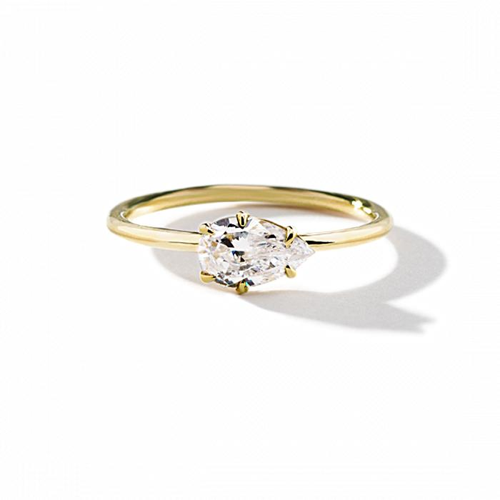 ILA Aleta Engagement Ring Semi Mount 3 / Yellow Gold