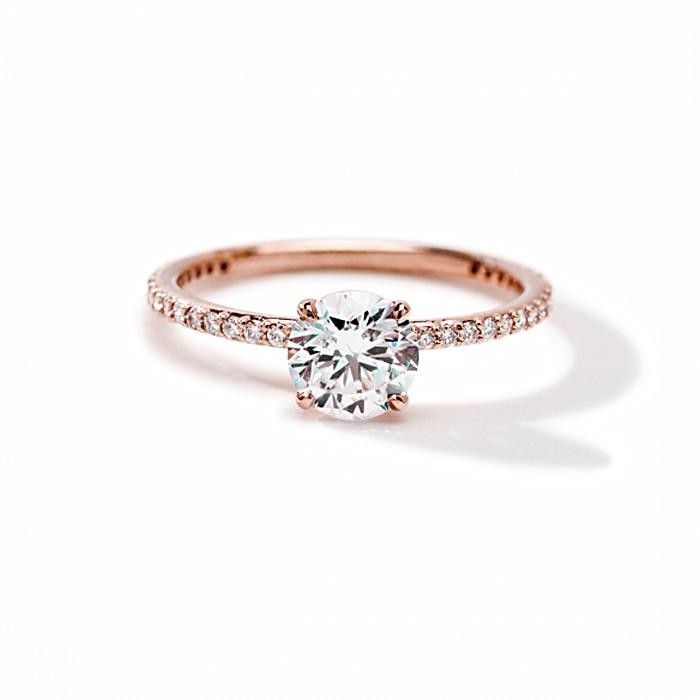ILA Round Pave Engagement Ring Semi Mount