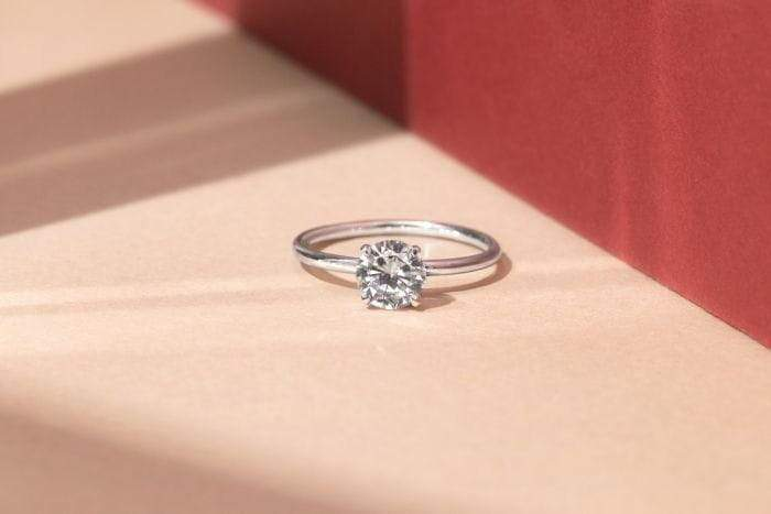 ILA - Round Solitaire Engagement Ring, Semi Mount
