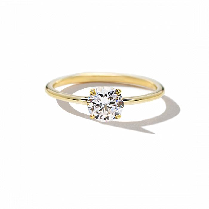 ILA Round Solitaire Engagement Ring Semi Mount 3 / Yellow Gold