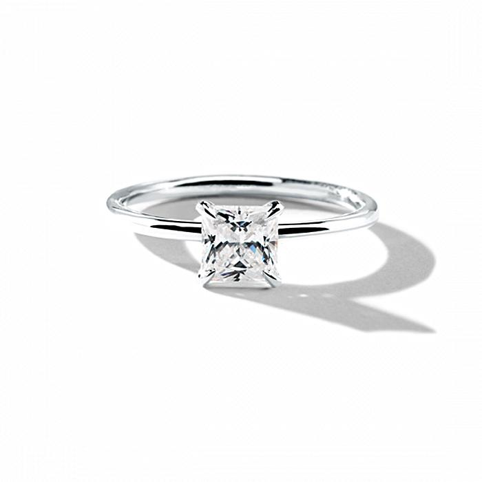 ILA Princess Engagement Ring Semi Mount 3 / White Gold