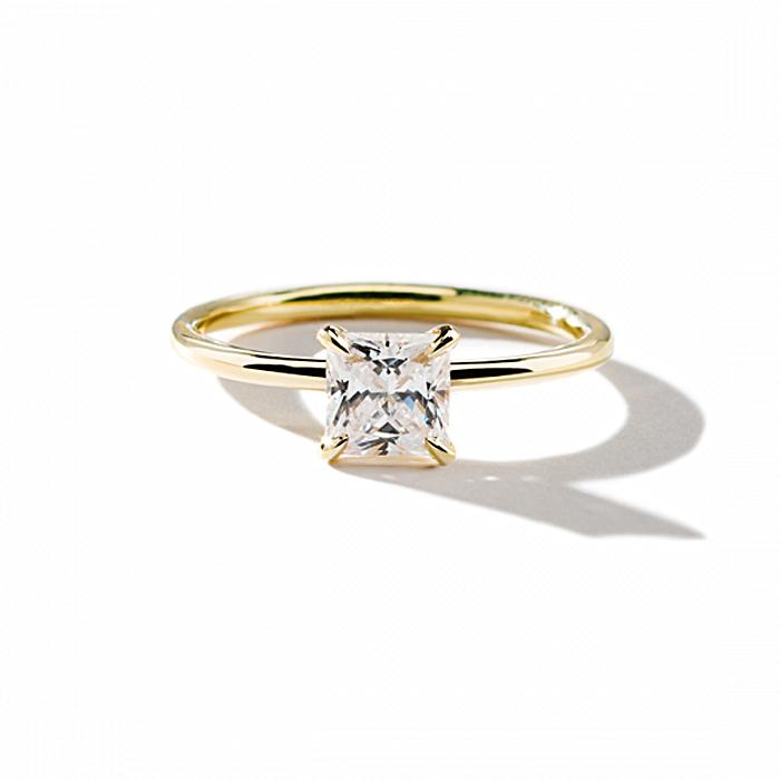 ILA Princess Engagement Ring Semi Mount 3 / Yellow Gold