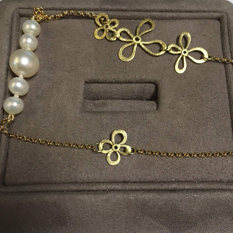 Alishan Daisy Pearl Necklace Necklace