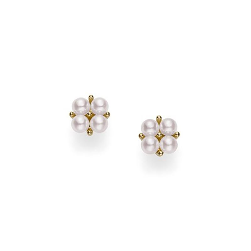 Mikimoto - Akoya Cultured Pearl Earrings 18K YG, Earrings