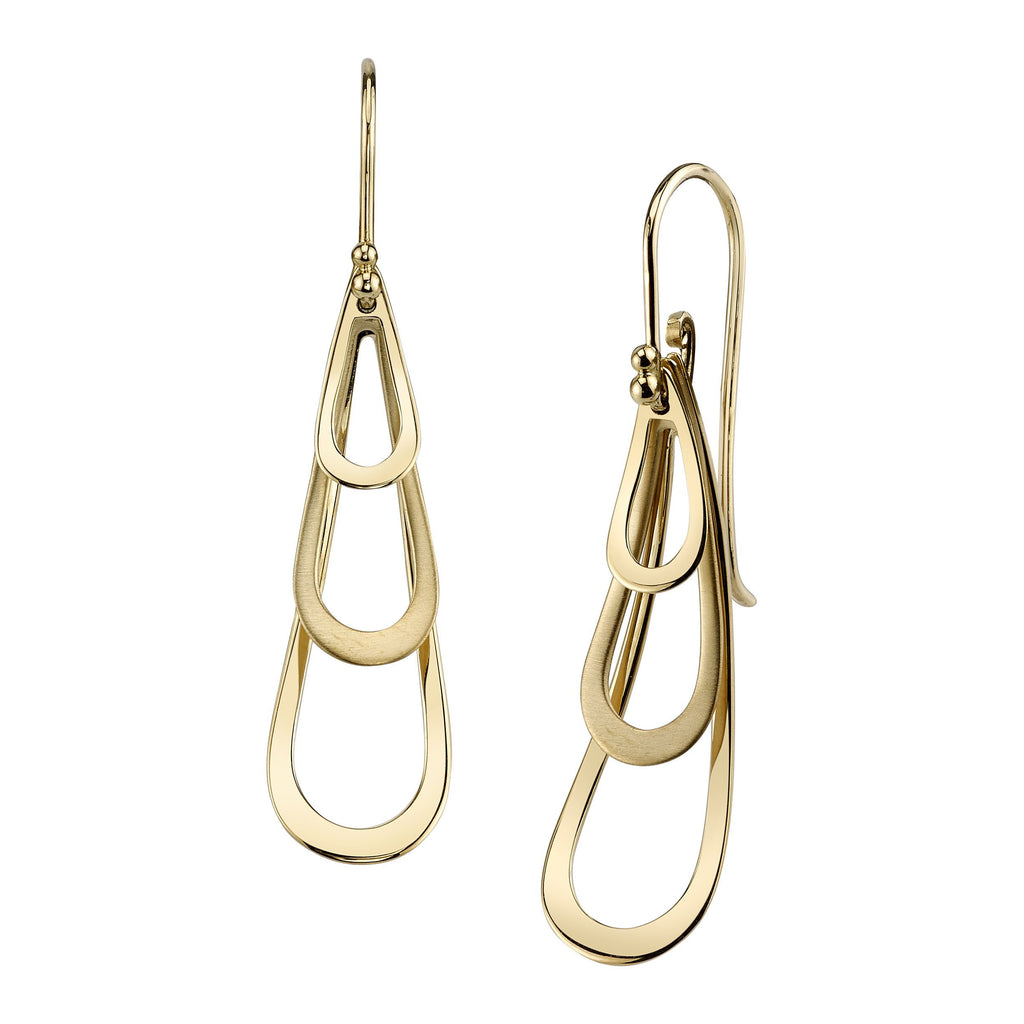 Arched Open Teardrop Earrings