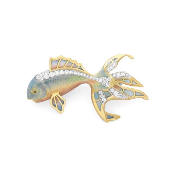 Masriera - Gold Fish Pendant, Pin