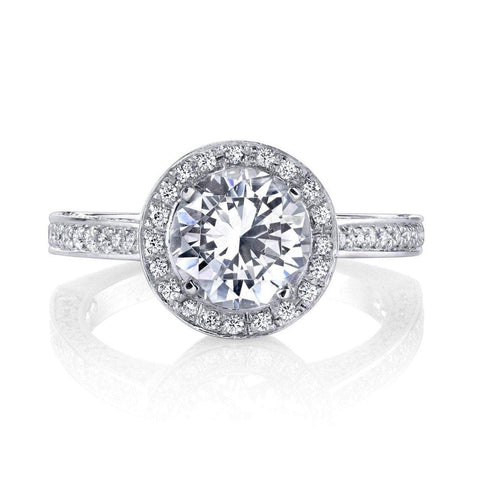 Alishan Semi-Mount Halo Engagement Ring Engagement Ring