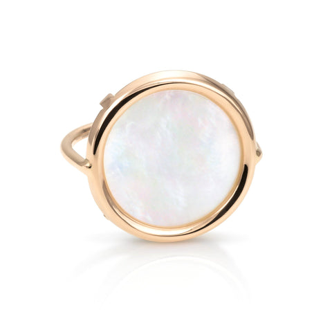 Ginette Mother of Pearl Disc Ring Ring