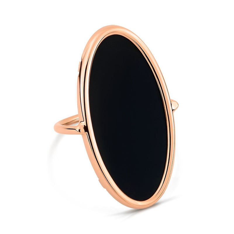 Ginette - Ellipse Onyx Ring, Ring