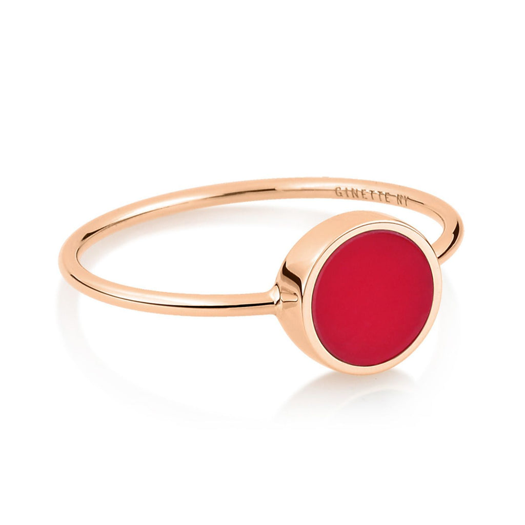 Ginette MINI EVER CORAL DISC RING Ring