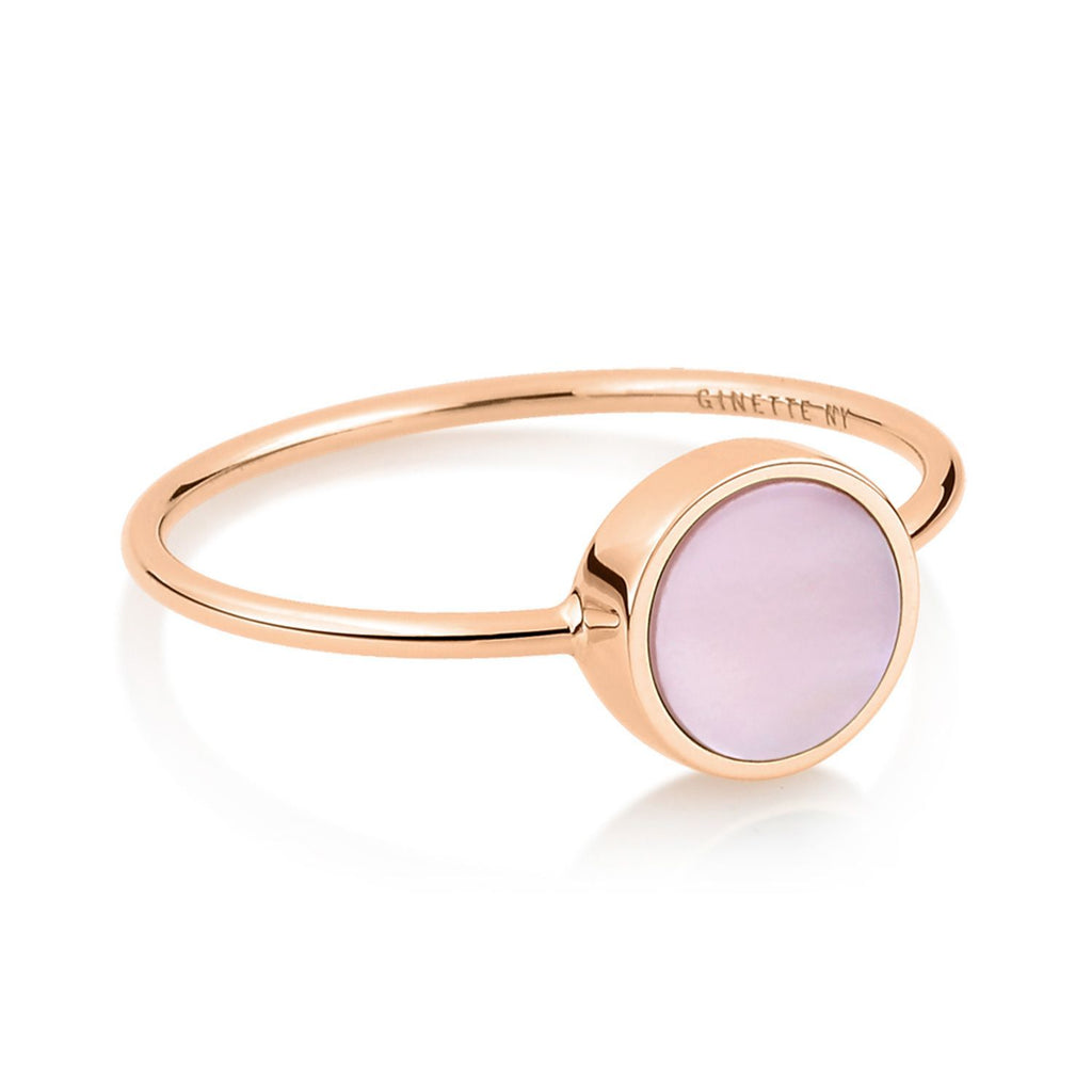 Ginette MINI EVER PINK MOP DISC RING Ring