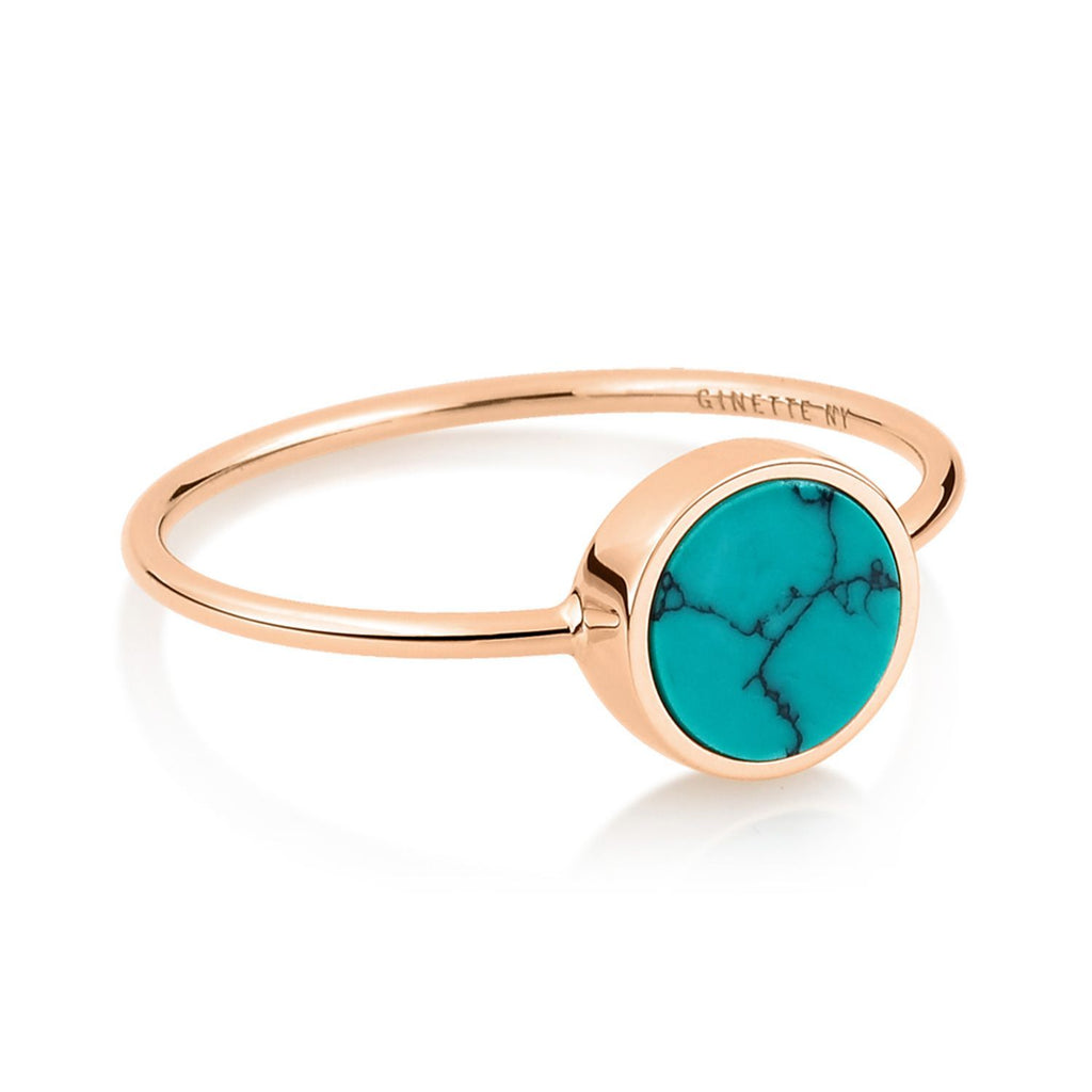Ginette MINI EVER TURQUOISE DISC RING Ring