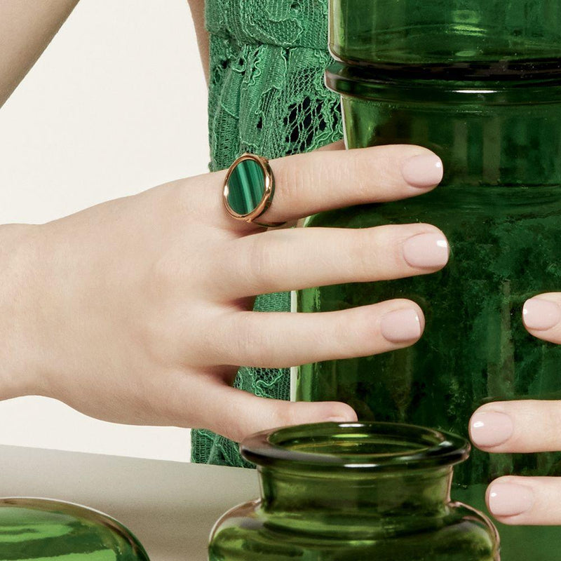 Ginette - Ever Malachite Disc Ring, Ring