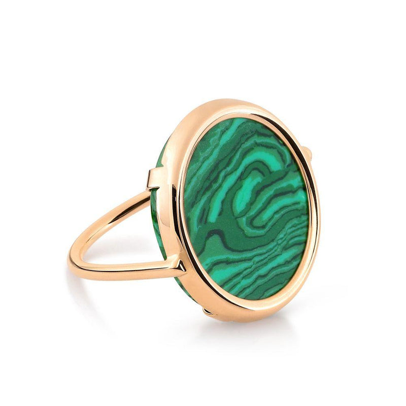 Ginette Ever Malachite Disc Ring Ring