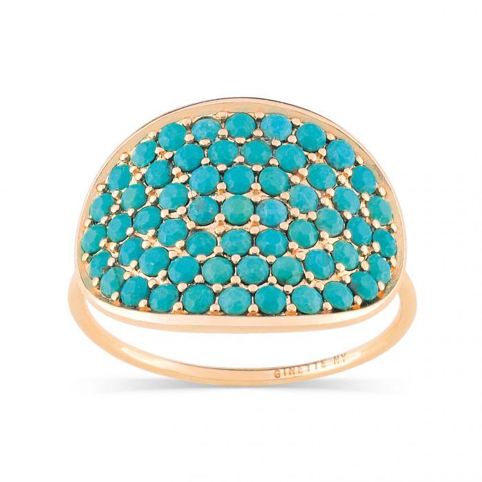 Ginette - Rose Gold and Turquoise Ring, Ring
