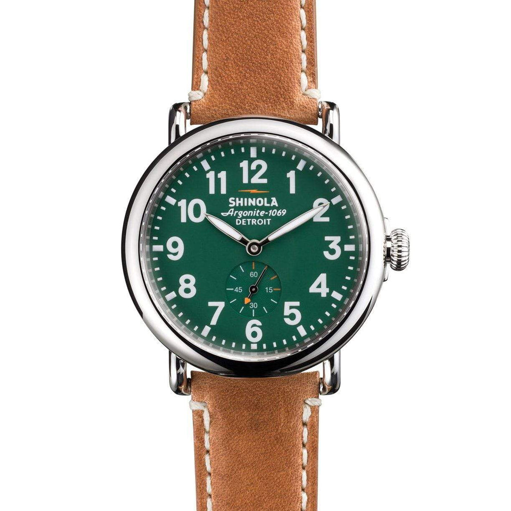 Shinola The Runwell 41mm Green Dial Mens Watch