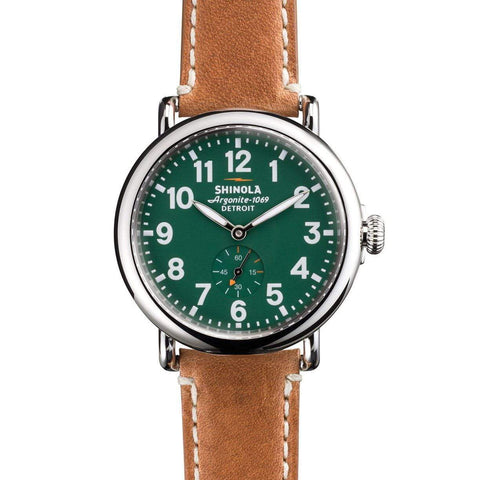 Shinola - Shinola The Runwell 41mm Green Dial Mens Watch, Watch
