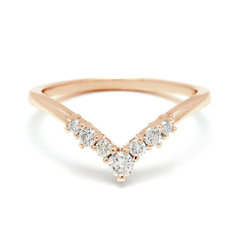 Anna Sheffield - Celestine Tiara Band Yellow Gold, Ring