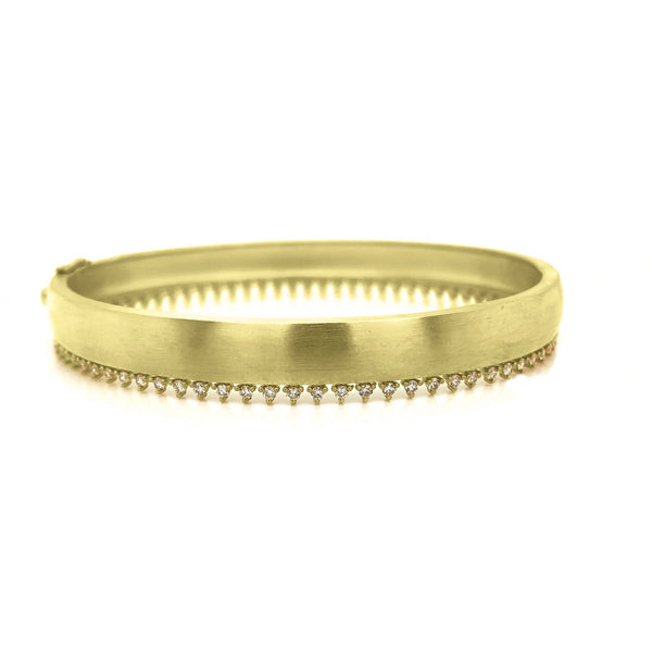 ILA Olive Bangle in Diamond Womens Bracelets