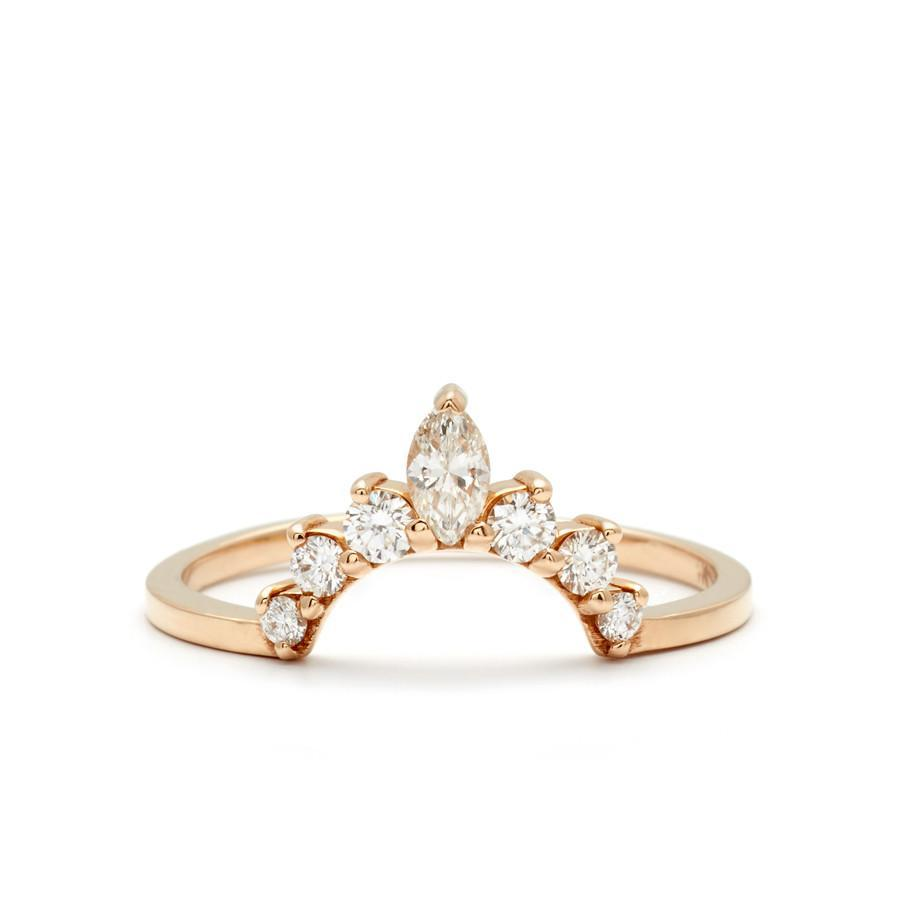 Anna Sheffield - Marquise Tiara Band Yellow Gold, Ring