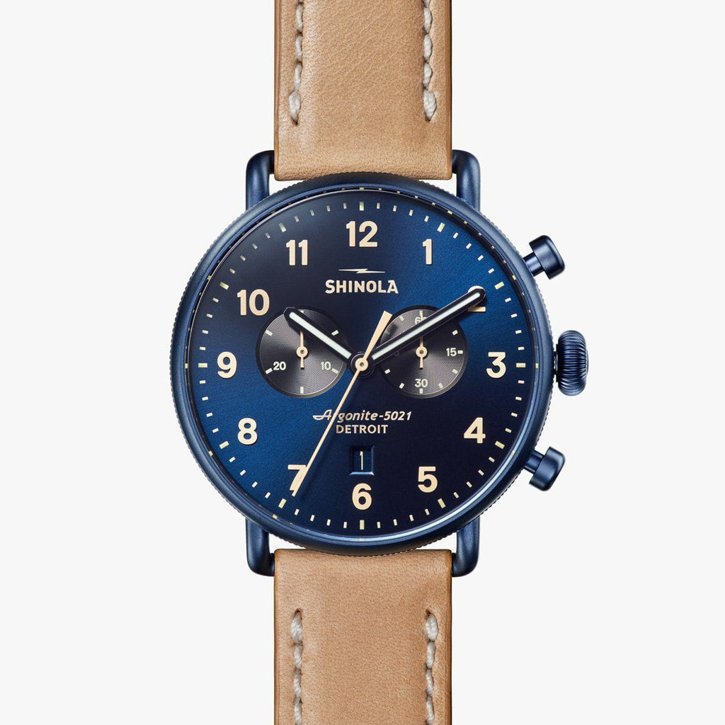 Shinola The Canfield Chrono 43mm - Blue Watch