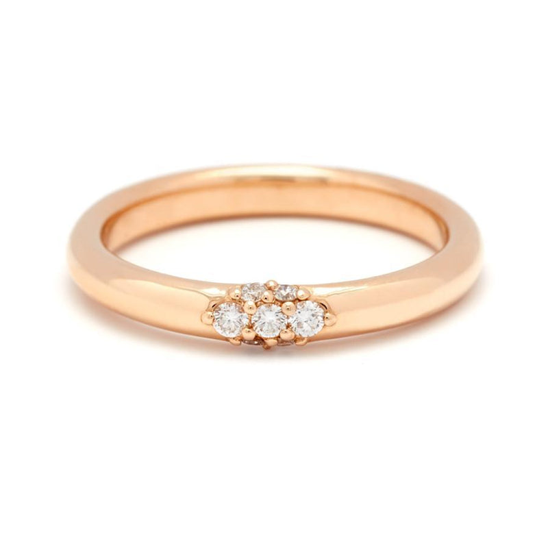 Anna Sheffield Single Cluster Celestine Band Yellow Gold Ring