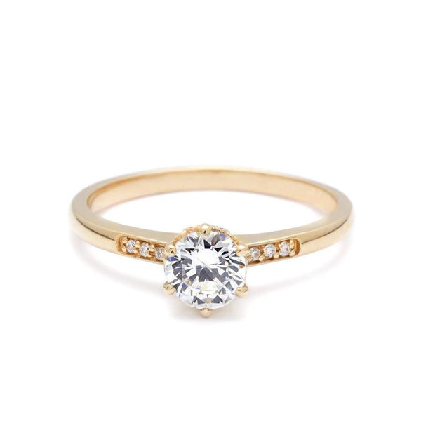 Anna Sheffield Hazeline Solitaire Engagement Ring Engagement Ring