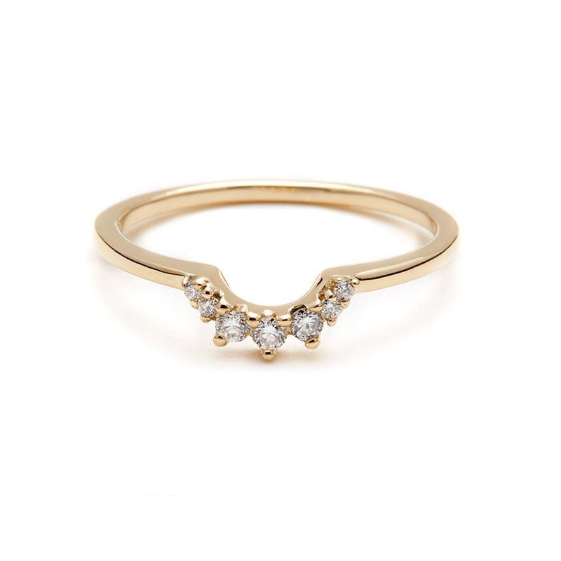 Anna Sheffield - Tiara Band Yellow Gold, Ring