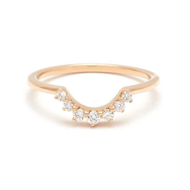 Anna Sheffield Grand Tiara Band Yellow Gold Ring