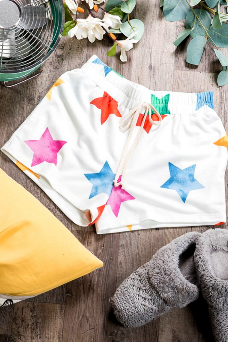 Ansley Star Print Shorts