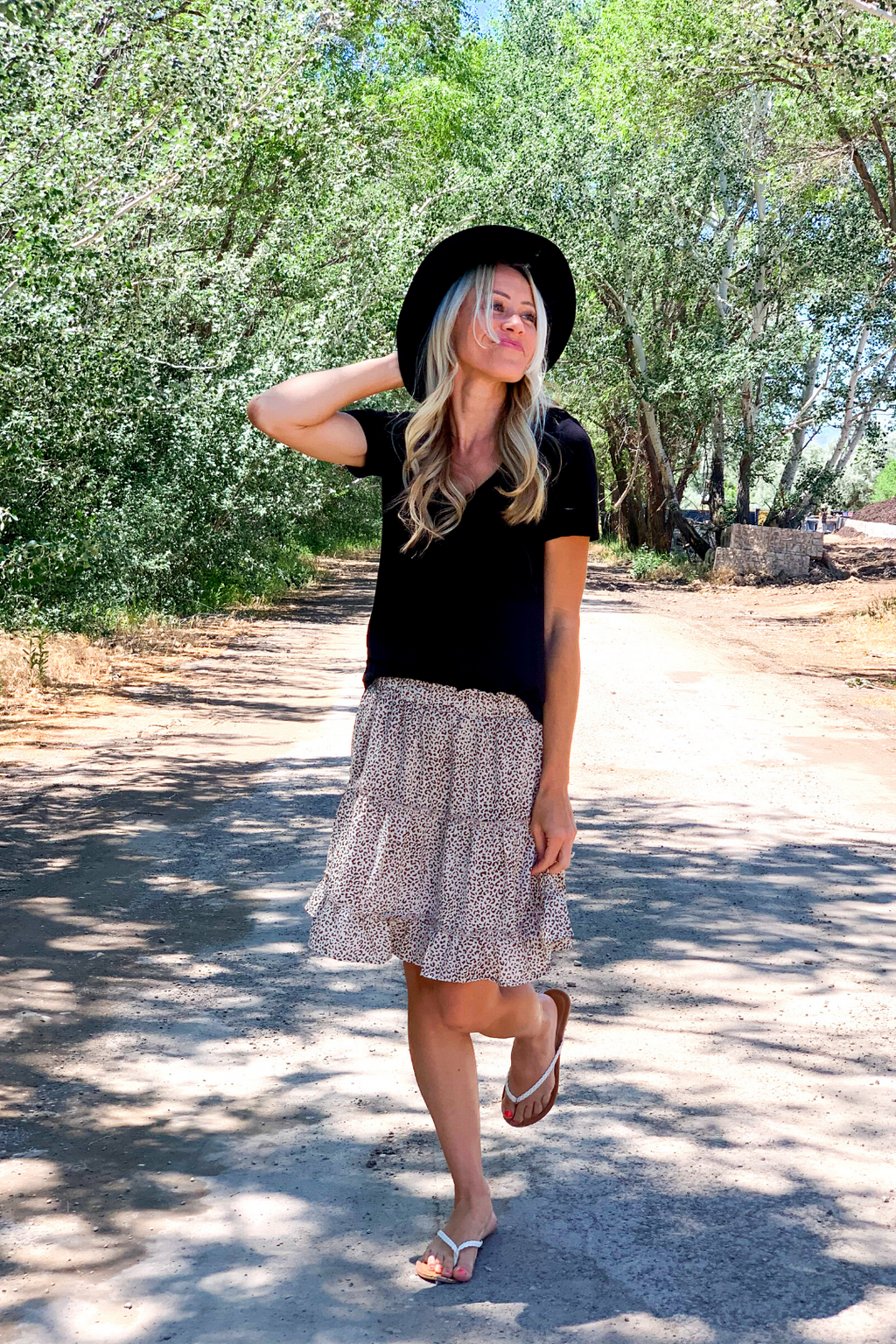Annie Animal Print Tiered Skirt