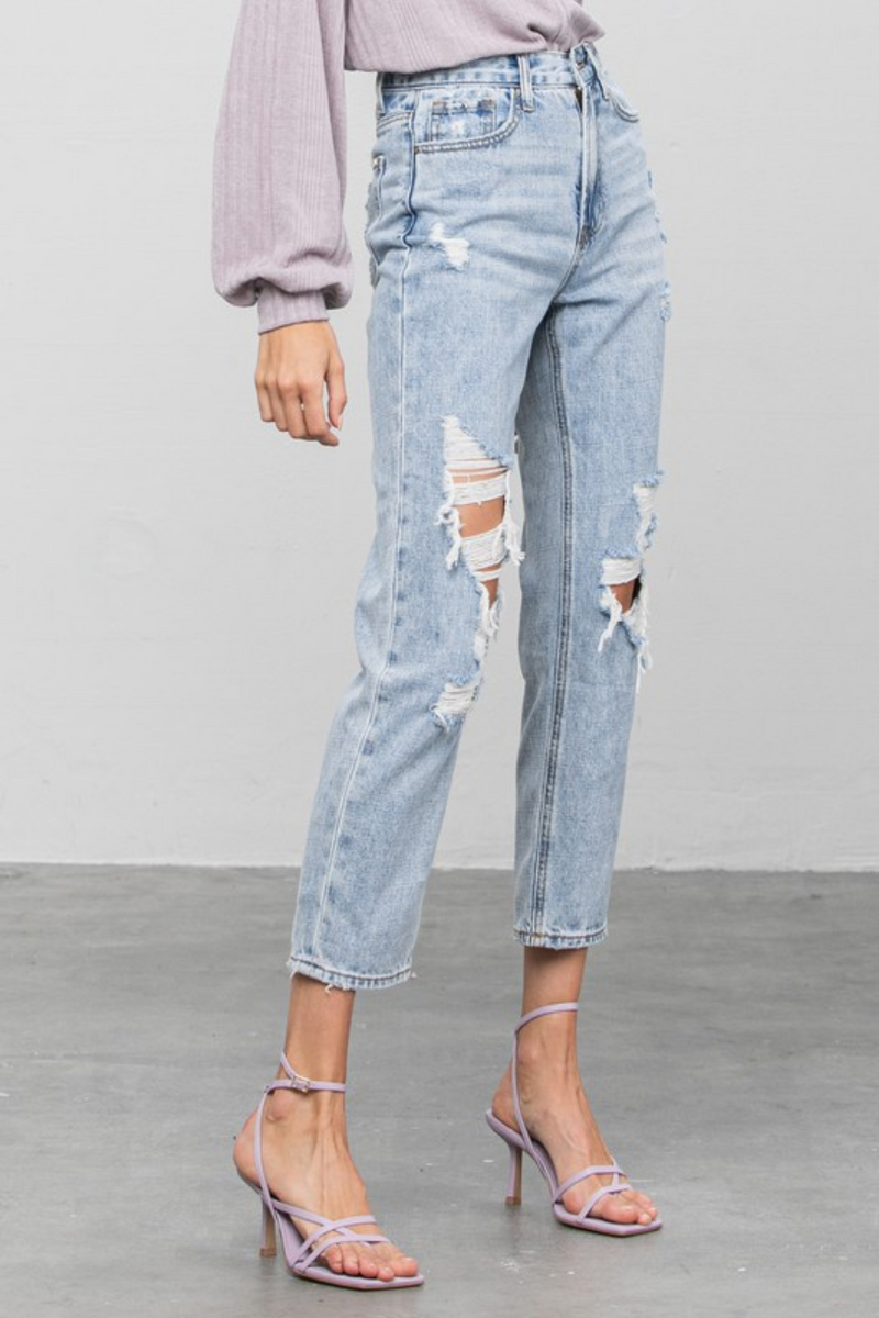 Tacie Hi-Rise Girlfriend Jeans