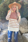 Lucy Striped Colorblock Sweater