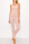 Ensley Peach Skin Lounge Set in Blush