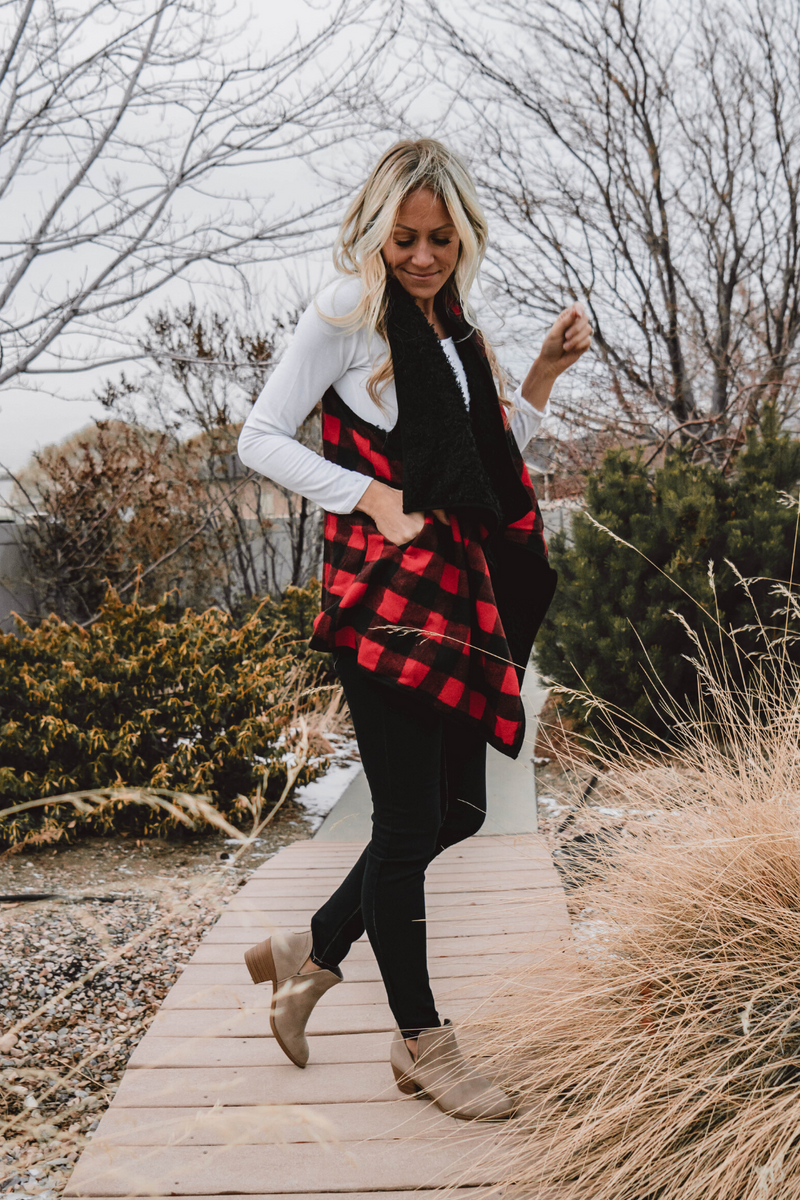 Elise Buffalo Plaid Vest