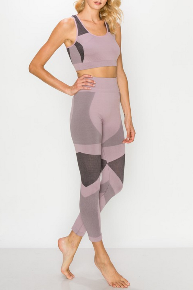 Adalee Space Dye Bra & Legging Set
