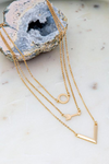 Trio Layer Geo Shape Necklace