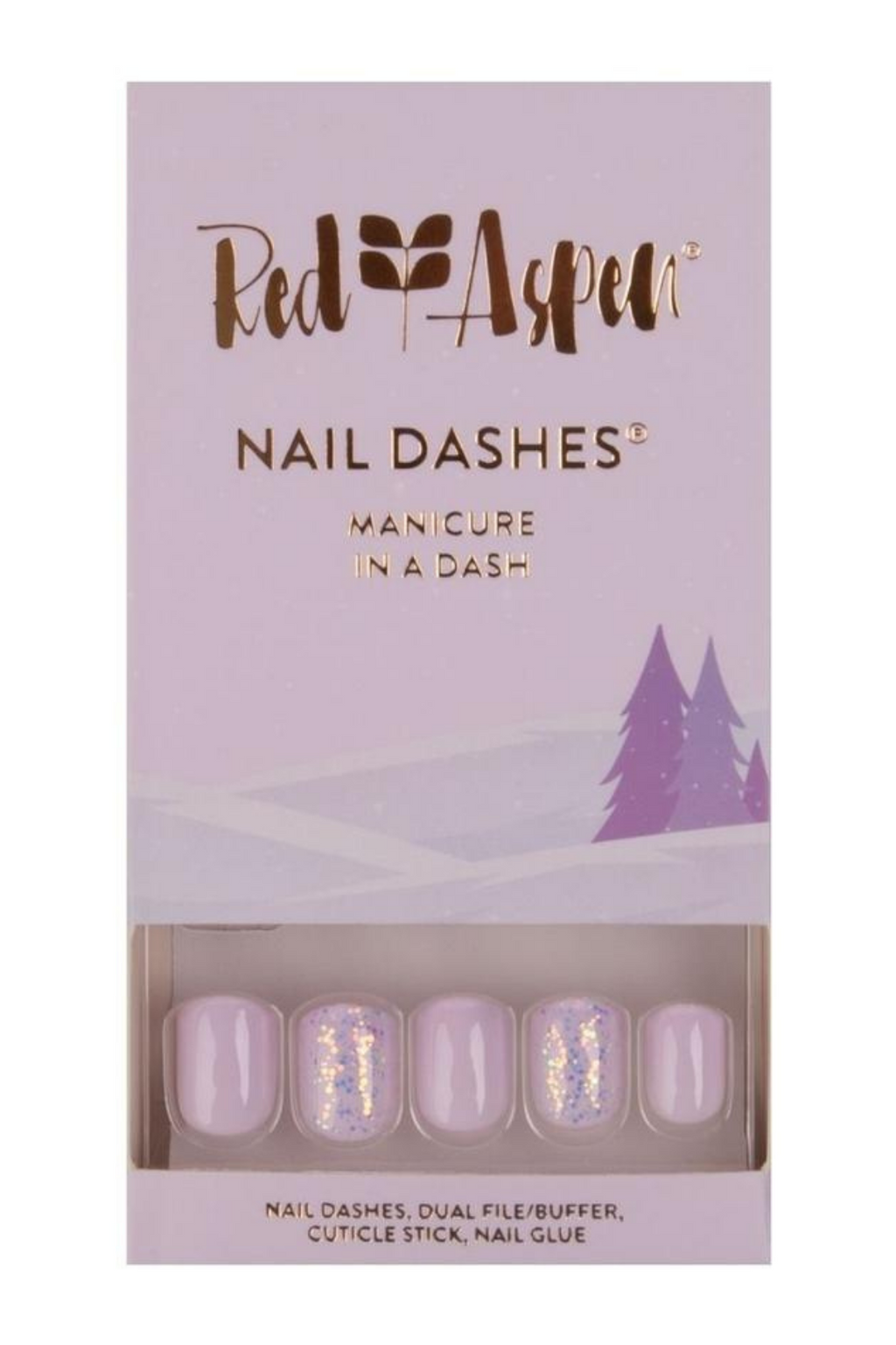 Winter's Wonderland Square Nail Dashes