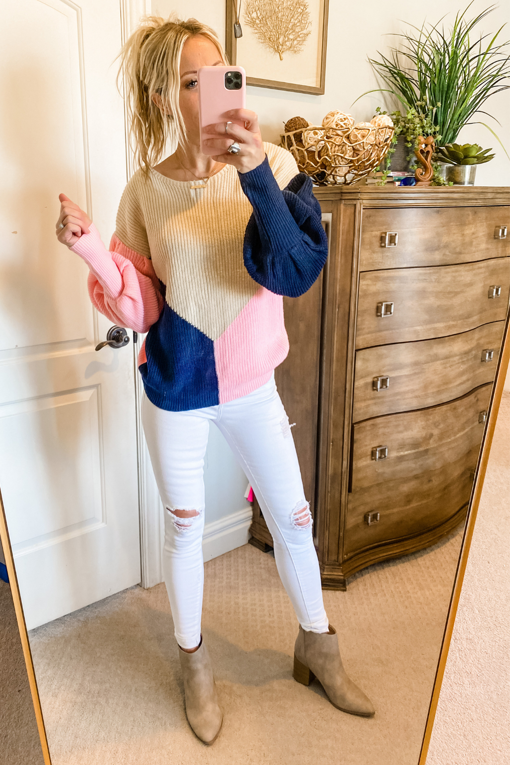 Braylee Color Block Sweater