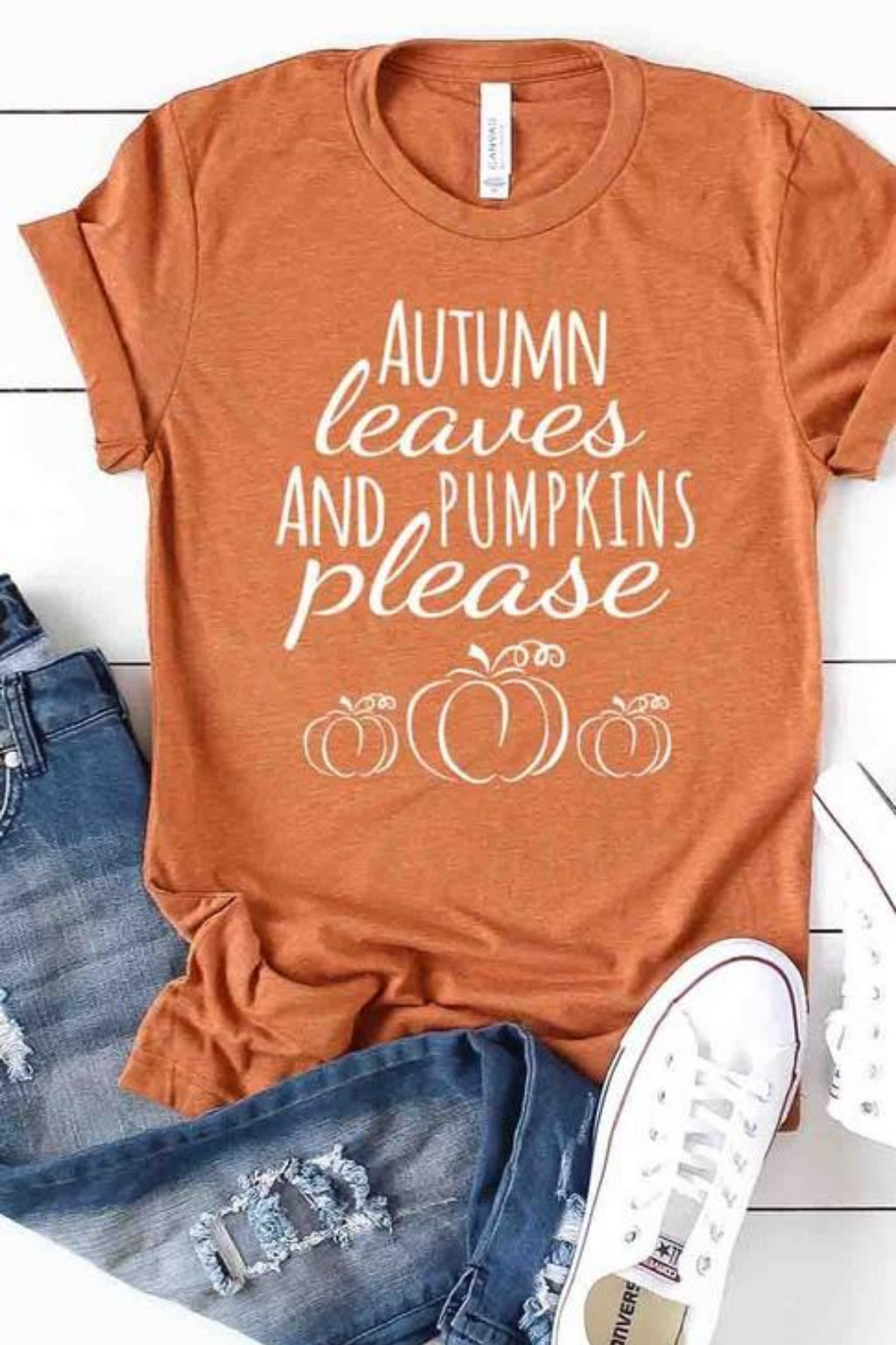 Autumn Leaves and Pumpkins Graphic Tee - PRE ORDER 8/15/20